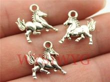 WYSIWYG 10pcs 19*15mm antique silver horse charms(China (Mainland))