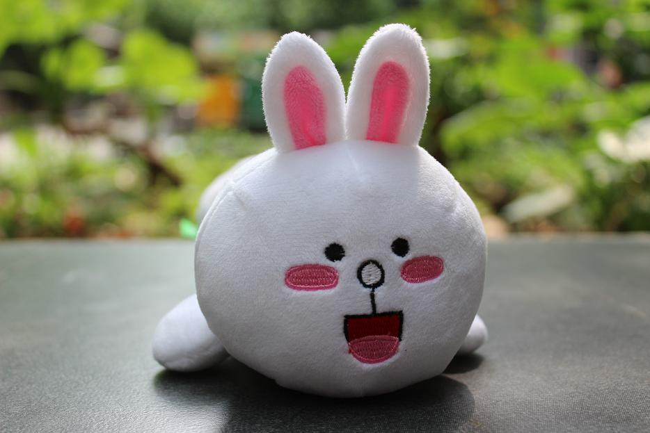 Free shipping Hot selling latest style LINE rabbit plush toys pen bag litter caddie Dolls Kids Games Products girls gift(China (Mainland))