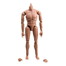 [wamami] 1/6 Scale brown skin male Action Figure body go with a pair of feet(China (Mainland))