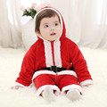 Three Layer Cotton Christmas Clothes Long Sleeve Santa Claus Baby Clothing Sets Lovely One Piece Jacket
