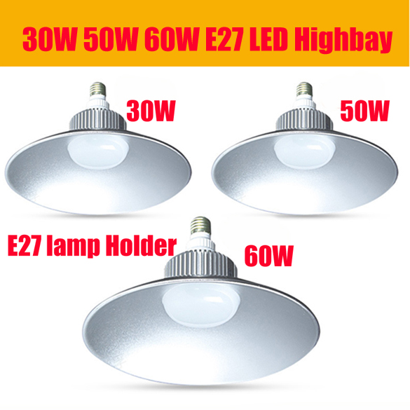 Free shipping 30W led high bay light 60w led fixture commercial lighting 50W LED highbay light for warehouse(China (Mainland))