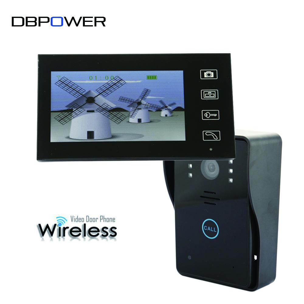 "7"" 2.4GHz Wireless Video Door Phone Vidoe Intercom Doorbell Home Security IR Camera Monitor Night Vision 150M Transmission(China (Mainland))"