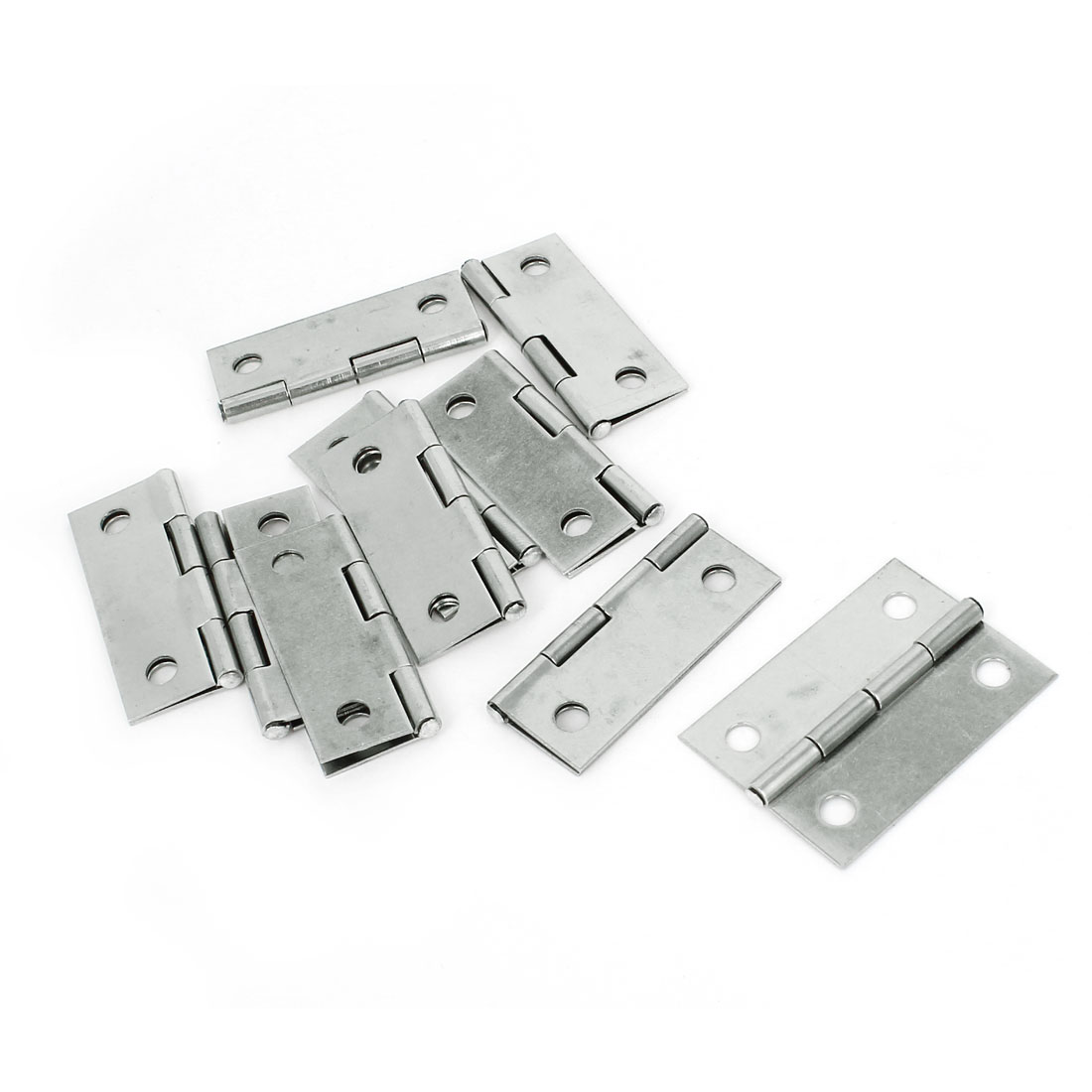 "10 Pcs 1.4"" Long Silver Tone Metal Rotatable Cupboard Door Lock Security Safety Hinge(China (Mainland))"