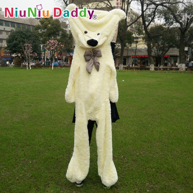 """Niuniu Daddy200cm/79 """"дюйма, Большие Плюшевые игрушки, полуфабрикаты медведь, Плюшевый Медведь Кожи, плюшевые кожи плюшевый мишка, Бесплатная Доставка"""