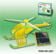 2016 DIY Kits Solar Helicopter Solar Toys For Children Educational Mechanical Quadcopter juguetes Christmas Gift