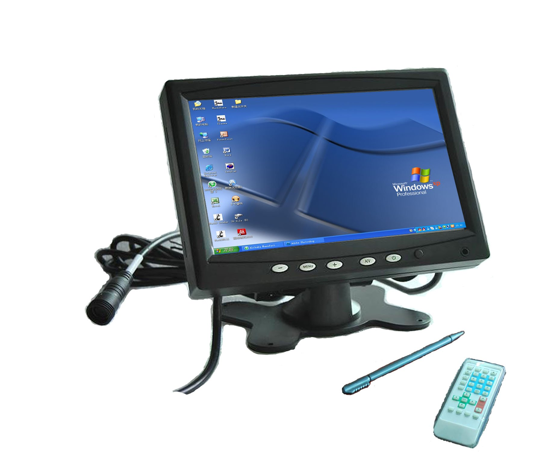 "7"" TFT LCD Car Rear View Mirror Monitor Touch Screen Panel PC monitor(China (Mainland))"