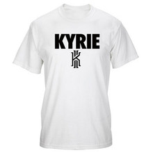 2016 Summer Fashion Brand Men Casual T shirt Letter Kyrie Irving Sport Tees Top Basketball Training Cotton T-shirts T-F11459
