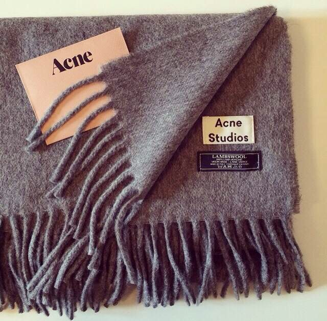 Canada Acne Wool Scarf Solid Unisex Pashmina Women Wraps Grey/black with Tassels Sample Style(China (Mainland))