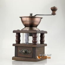 Оригинал be9109 двойной медь дерева ручной кофемолка шлифовальный станок