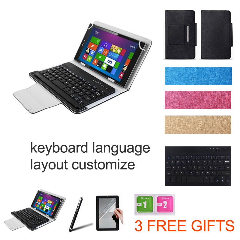 3-IN-1 Stylus+Screen Protector+UNIVERSAL Wireless Bluetooth Keyboard Case for 8 inch HP Pro Tablet 408 Keybaord Language Custom(China (Mainland))