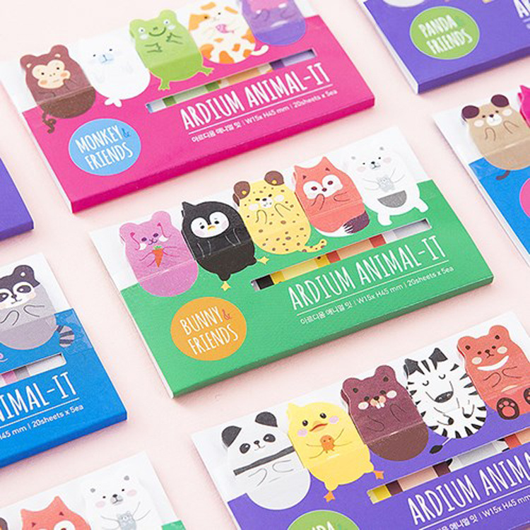 Free ship!1lot=40set!creative stationery /kawaii cute animals N stick/ Post-it notes/memo pad/school supplies/paper note(China (Mainland))