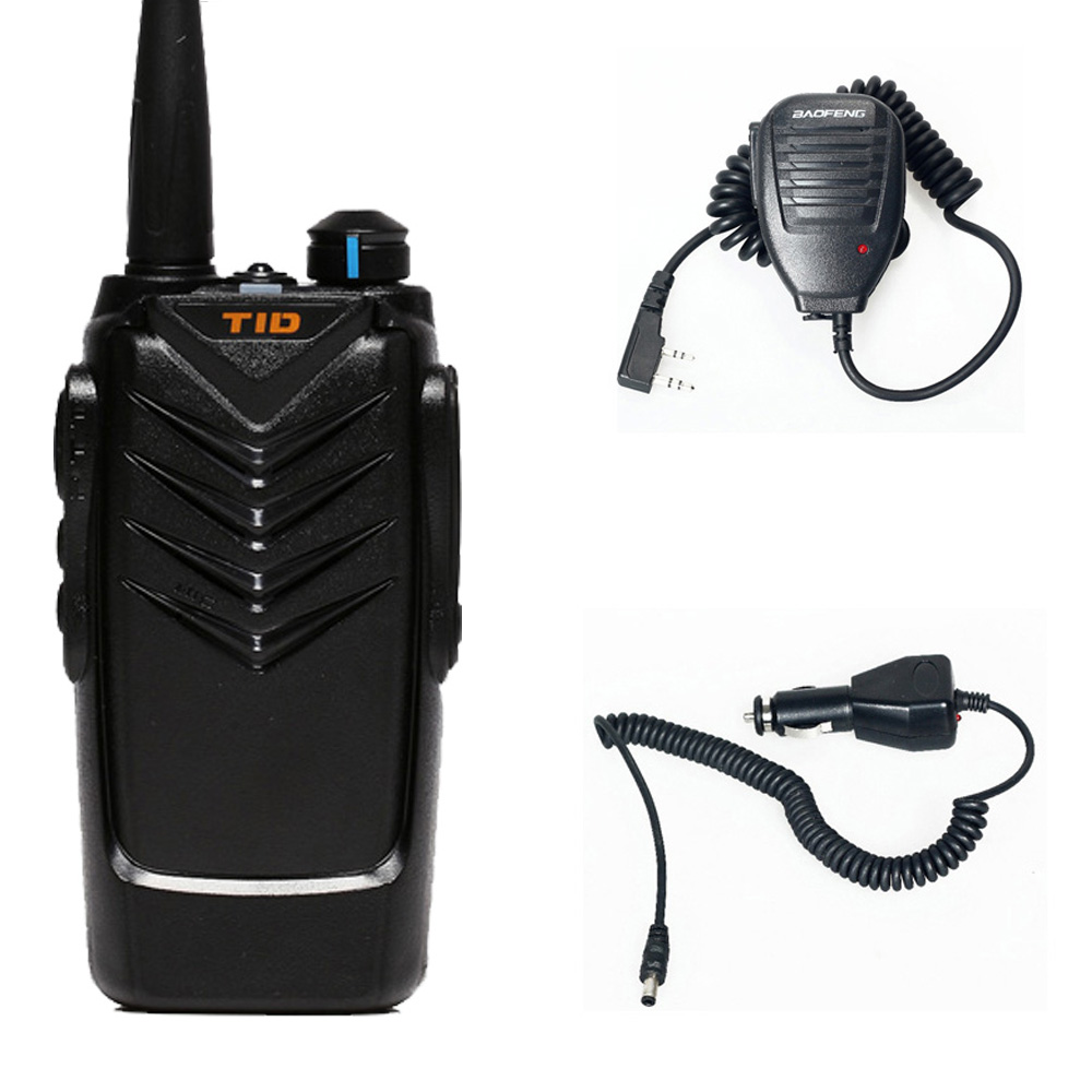 Walkie Talkie Two Way Radio TD-V3 +Car Charger+Handheld Microphone Speaker good quality hot sale free shipping(China (Mainland))