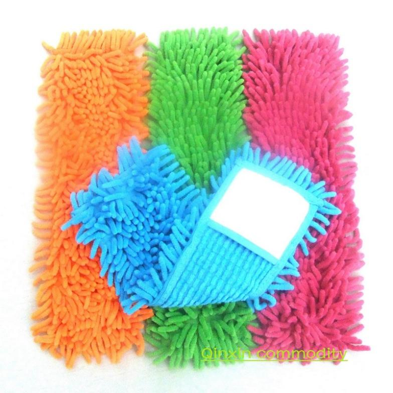 3 Pieces/Lot Chenille cleaning mop head Microfiber mop head flat mop replacement cloth rotating mop head Free shipping(China (Mainland))