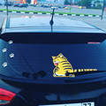 Car Stickers Cartoon Funny Cat Moving Tail Stickers Reflective Car Styling Window Wiper Decals Rear Windshield