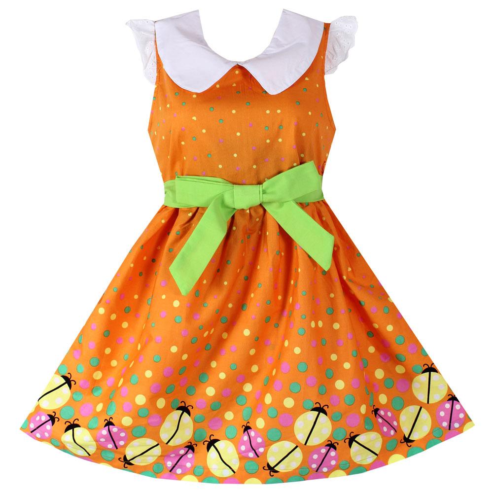 Платье Для Девочки Оранжевое Купить