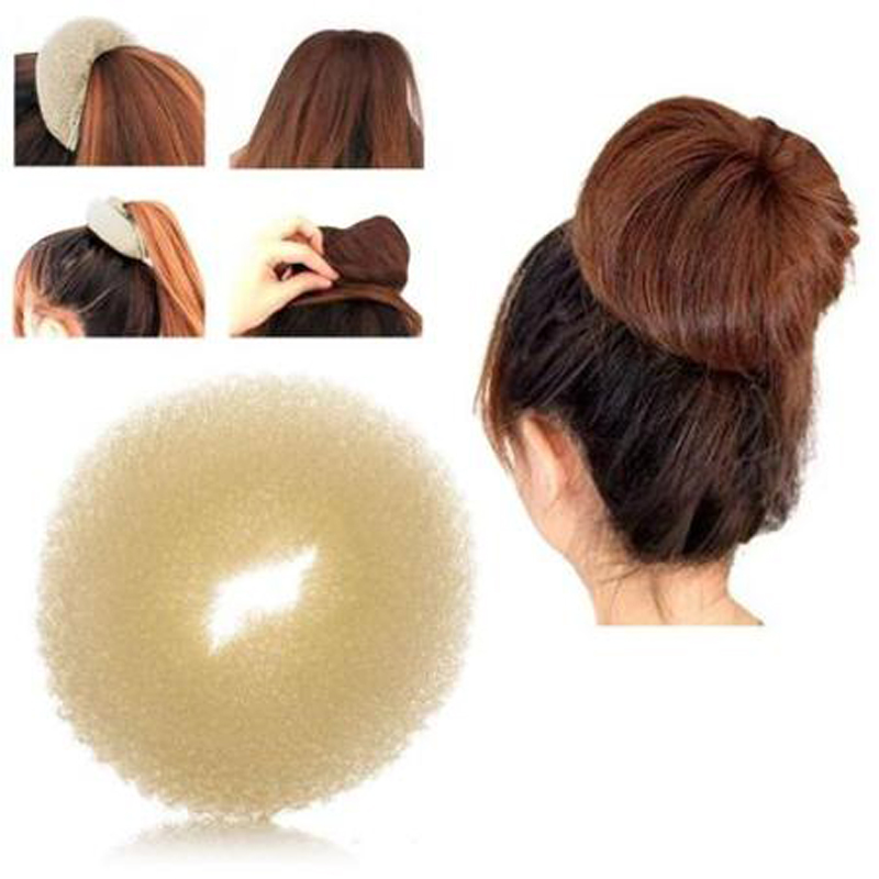 2016 Korean Style New Bud Head Ball Head Disk Donuts Dish Hair Hairdressing tools Qucikly For Women Hair Accessories(China (Mainland))
