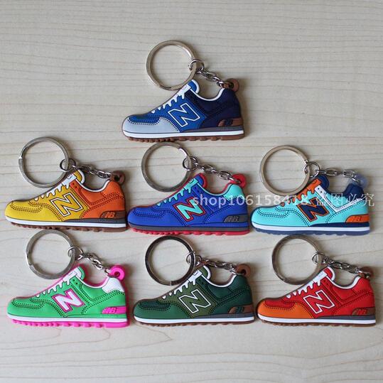 sneaker keychain kids key rings women key holder chaveiro llaveros Novelty cute zapatillas new balanceer 574 key chain 1017(China (Mainland))