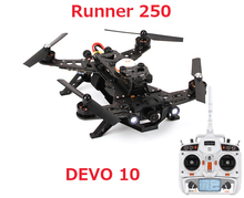 (In stock) Original Walkera Runner 250 with DEVO 10 transmitter RC Quadcopter Drone RTF