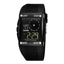 OTS LED Digital Homens Esportes Retângulo Dial Assista Water Resistant Rubber Strap relógios Presentes Ao Ar Livre(China)