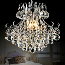 D40cmxH41cm Luxury North European Top K9 Crystal Chandelier Lighting Hotel Hall Living Room E14 Bulbs AC 110-240V Free Shipping(China (Mainland))
