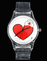Angel LOVE Heart Cap Red Cross Nurse Doctor YOU ARE LOVED Fashion Women Ladies Girl Watches