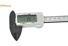 Micrómetro Digital 2015 calientes de 6 » 150 mm Carbon Fiber Composite Digital Lcd del calibrador a Vernier herramienta de medición
