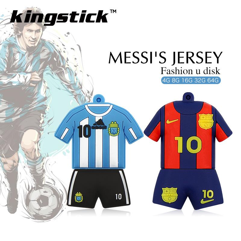 Football player Messi Jersey model pen drive Barcelona Messi 32gb usb flash drive 64gb memory stick 4gb 8GB 16gb pendrive u disk(China (Mainland))