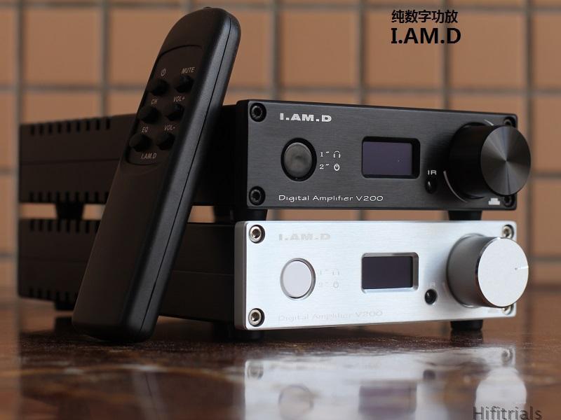 I.AM.D V200 Digital Audio Amplifier/Headphone Amplifier 150W*2 CM6631A 24Bit/192KHz Input USB/Optical/Coaxial/AUX OLED Display(China (Mainland))