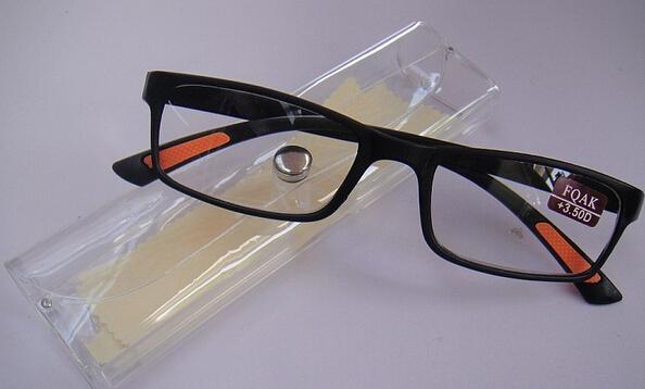 2015 Super soft Ultra light Plastic Women Reading Glasses Men Presbyopic Glasses Black