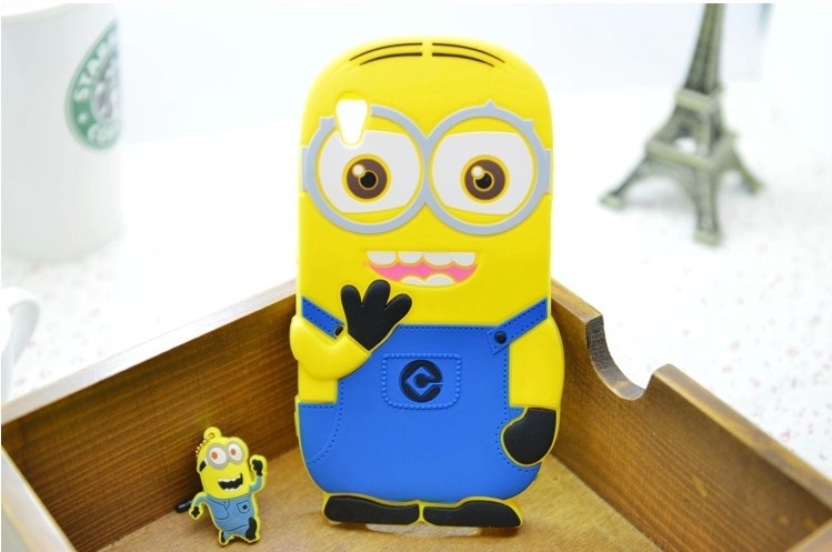 Sony Xperia Z1 L39h 2016 New Despicable 2 Minions Cartoon Cute Lovely Skin Silicon Case Cover - Rose Angel store