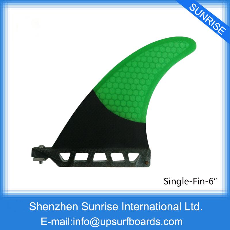 "Hot Sale Fiberglass Fin 6""Length Surfboard Center Fins Green Surfboard Fin Longboard Single Fins(China (Mainland))"