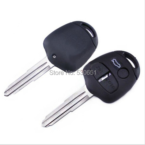Replacement Housing Shell Remote Blank Key Case Fob 3 Button MITSUBISHI Triton Left Blade - Car Electronics Center store