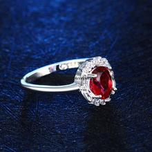 New Silver 925 wedding band Simulate Ruby Diamond Wedding Ring for Women wedding jewelry wholesale Free