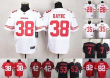 A+++ all stitched San Francisco 49ers #52 Patrick Willis #7 Colin Kaepernick # 38 Jarryd Hayne 53 NaVorro Bowman Carlos Hyde(China (Mainland))