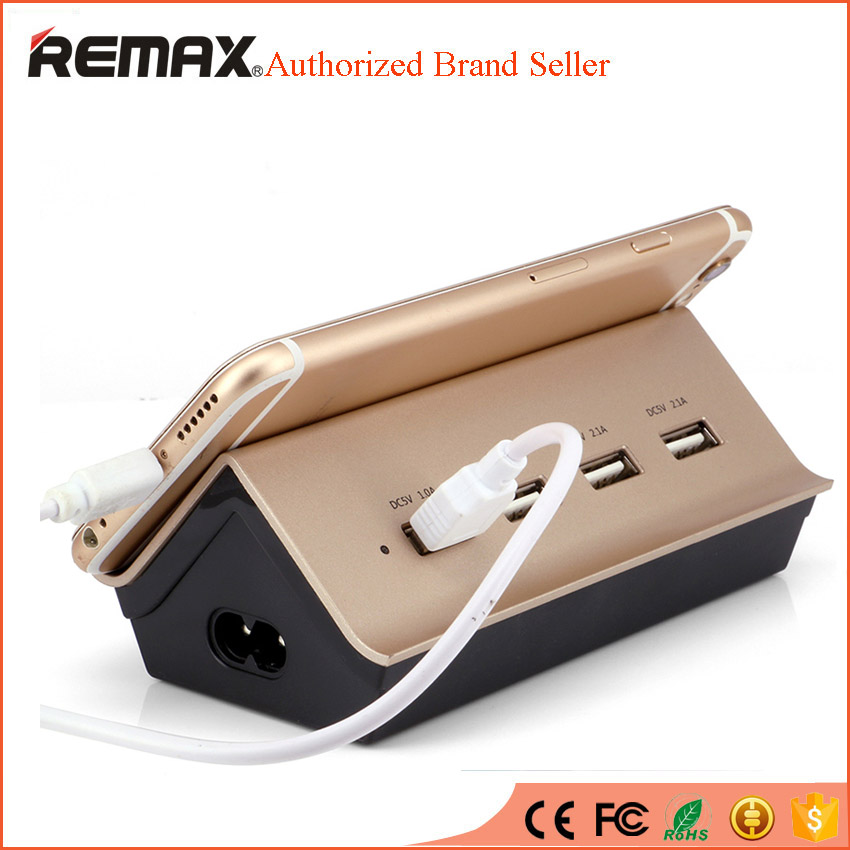 REMAX Power Strip Socket with 4 USB Standard Extension Socket Plug Home Electronics Mobile Phones Smart Charger & Stand Holder(China (Mainland))