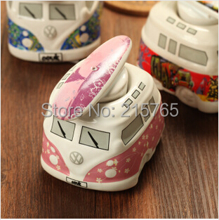 Lowest Price Lovely Pink Bus Salt & Pepper Shakers Baby full moon Favors+100 pieces/Lot+ - Fashion wedding products co., LTD store