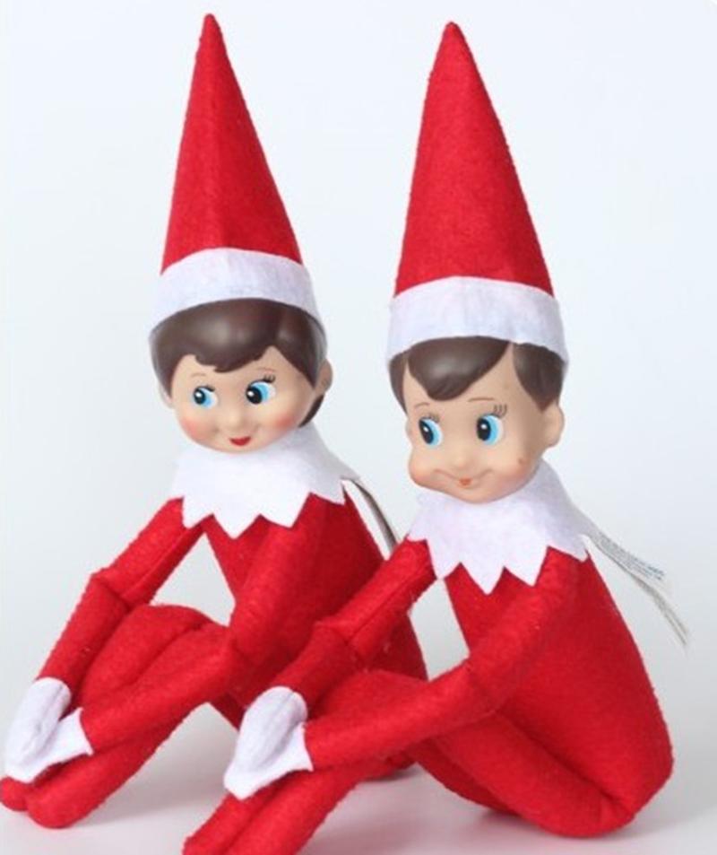 New Arrival Elf On The Shelf Plush christmas toys Dolls Girl & Boy Christmas decoration Novelty kids Toys New year Gifts T001(China (Mainland))