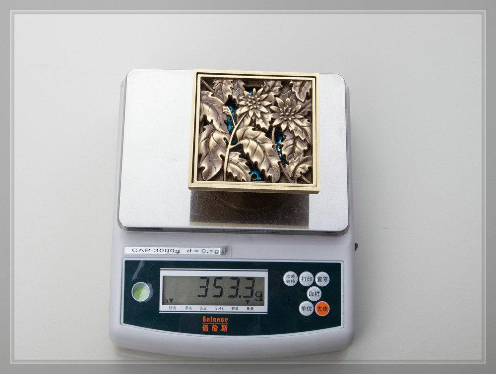 e pak Best Price Beautiful L5402 Antique Brass Gravity Flushing Construction Real Estate Bathroom Floor Drain