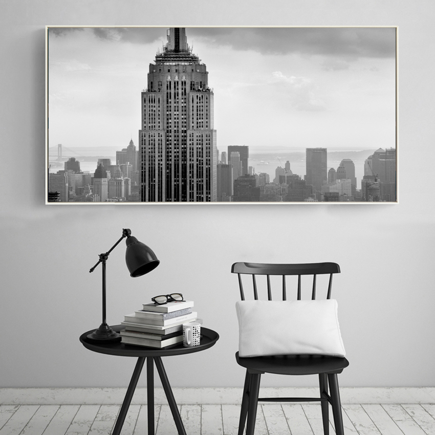 Modern USA Empire State Building new york pictures canvas art Home decor Wall Painting Art Canvas Prints for living room(China (Mainland))