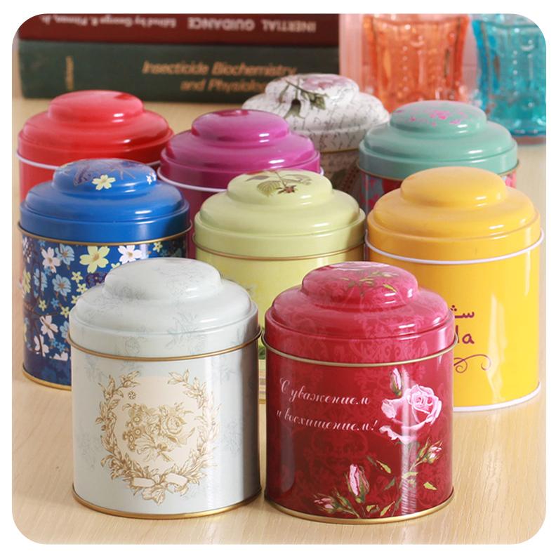free shipping vintage tea tin containers cute mini tin