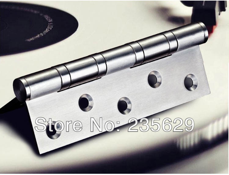 Free Shipping, 380g,SUS 201 brushed stainless steel Hinges for timber door Hinge, ball bearing hinge, no noise, long life(China (Mainland))