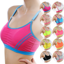 2016 New Hot sale Slim Sexy Fitness keep fit Women Lady Sports Athletic Solid Wrap Chest Strap Vest Tops Bra bandage crop top(China (Mainland))