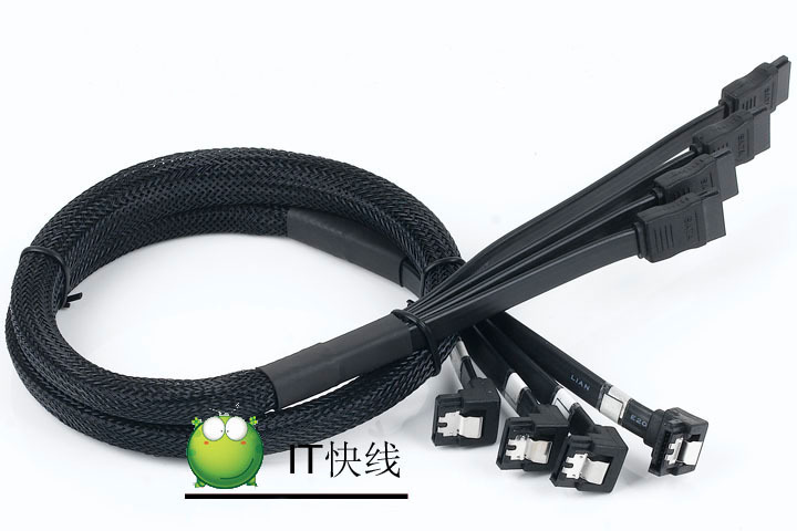 PC diy 4 in 1 High Speed Serial ATA SATA 2 Male to Male Multi Hard Drive HDD RAID DATA Cable Copper Wire Shielding Design 80cm(China (Mainland))