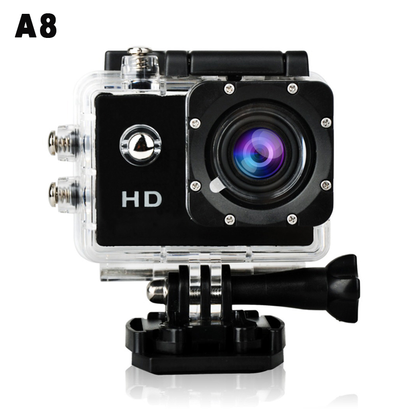 """A8 Waterproof Sports Camera 30m Under Water 3MP 720P HD Mini 1.5"""" DV Cam Camcorder Action Video Recorder 2015(China (Mainland))"""