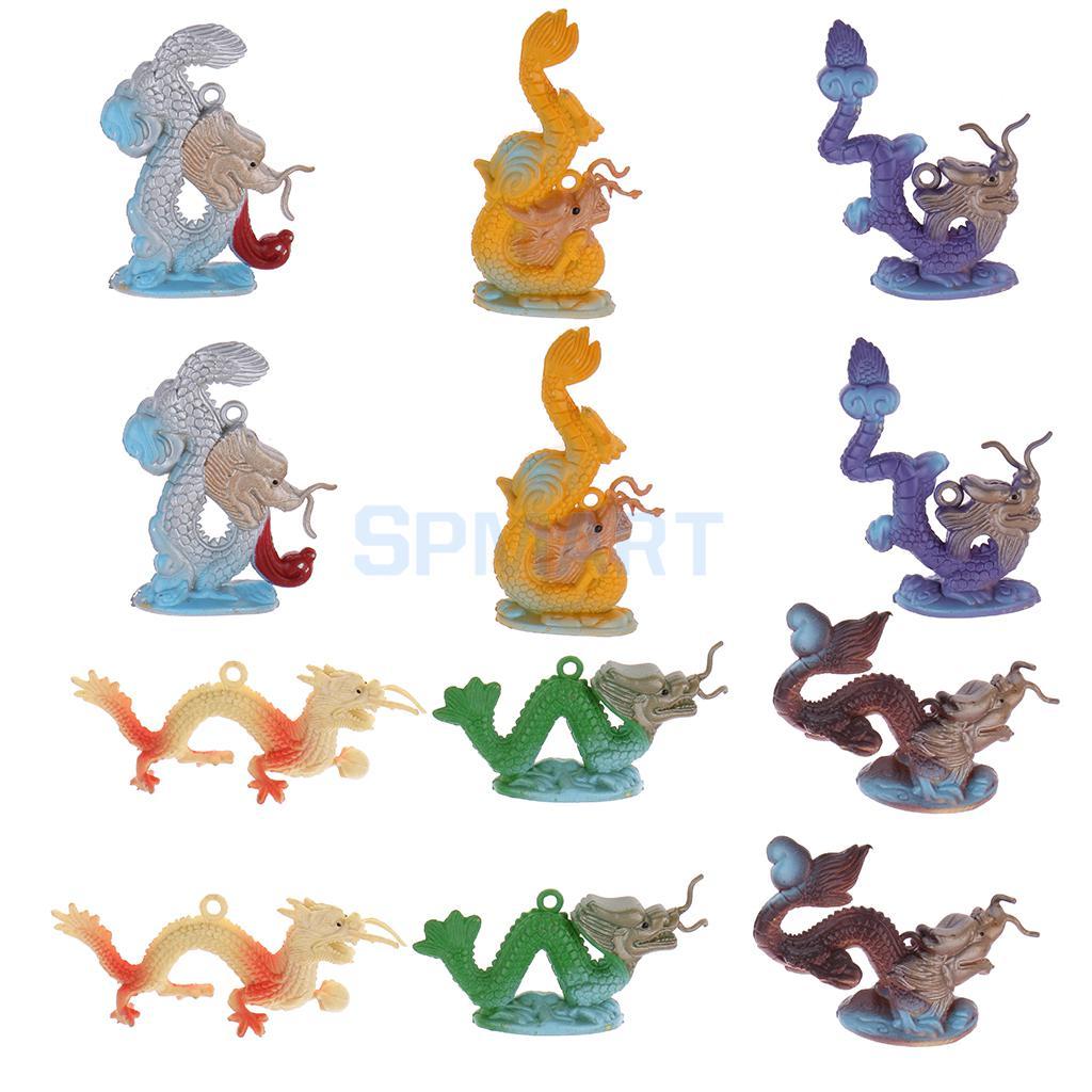 Plastic Dragon Model Figures Kids Party Bag Filler Favour Toys 12pcs(China (Mainland))
