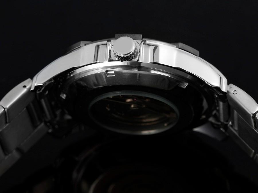 GOER марка мужская Скелет наручные часы Спорта водонепроницаемый Механическая автоматическая Нержавеющей Стали мужчины Смотреть Световой цифровой