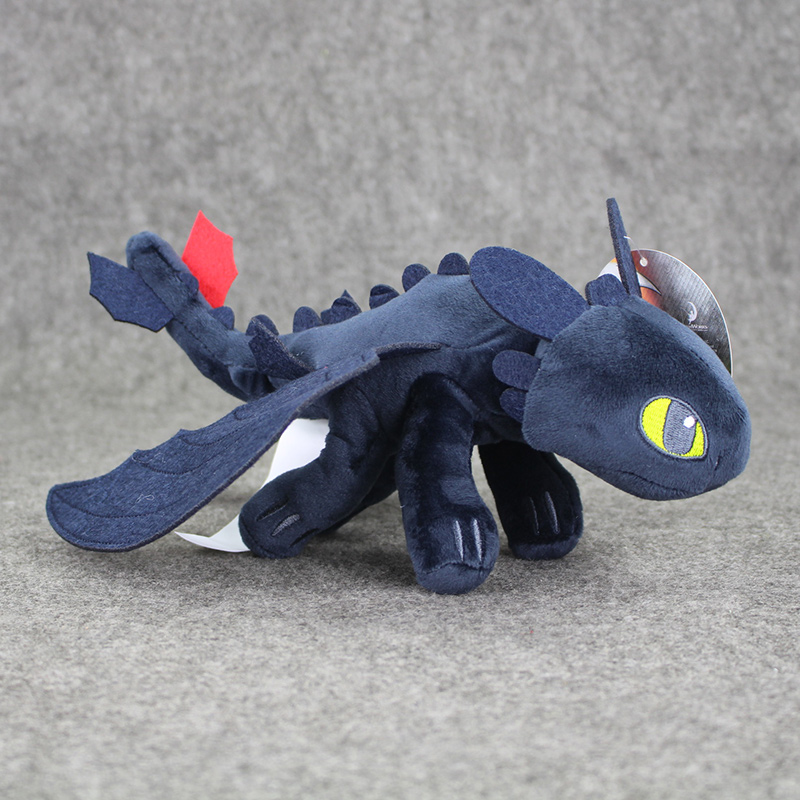 23CM 10pcs/lot How to Train Your Dragon Plush Doll Night Fury Toothless Stuffed Toy Animal Doll free shipping(China (Mainland))