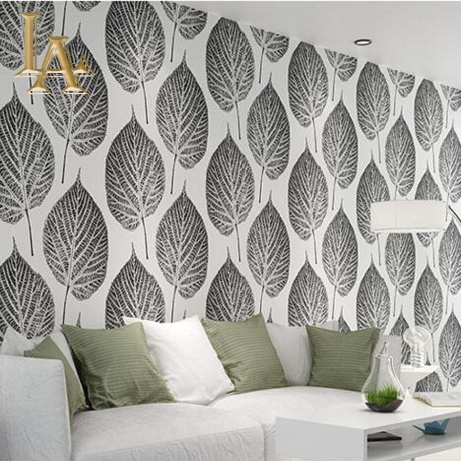 Papier peint noir et blanc chambre - Deco salon zwart wit ...