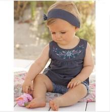 2016 Hot Fashion Summer Newborn Baby Boys Clothing Cotton Baby Girls Clothes Unisex Sets 3Pcs Romper