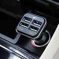 Free Shipping 4 Port 6 8A Universal USB Dual Car Charger Adapter for iphone6 ME3L
